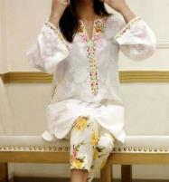 2PCS Lawn Heavy Embroidery Suit With Beautiful Embroidery Trouser (DRL-471) (Unstitched) Price in Pakistan