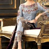 Designer Chiffon Embroidery Suit 2020 With Chiffon Embroidery Duppata (CHI-268) (Unstitched) Price in Pakistan