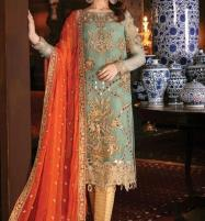 Handwork Chiffon Heavy Embroidery SuitsDress With Chiffon Dupatta Unstitched (CHI-342) Price in Pakistan