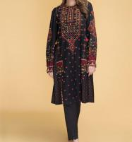 Lawn Heavy Embroidery 2 Piece Unstitched Embroidered Black Lawn Suit Summer Collection 2020 (Unstitched) (DRL-537) Price in Pakistan