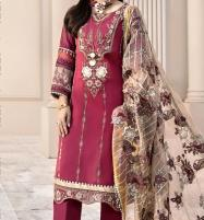 Eid Collection Neck Lawn Embroidery Collection With Chiffon Dupatta (DRL-565) Price in Pakistan
