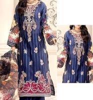 Eid Embroidered Airjet Lawn Dress 2020 with Chiffon Dupatta UnStitched (DRL-574) Price in Pakistan