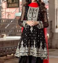 Embroidered Chiffon Black Dress (Unstitched ) (CHI-142) Price in Pakistan