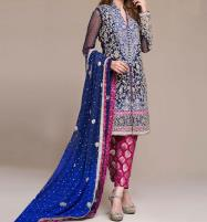 Embroidered Chiffon Bridal Dress Unstitched (CHI-28) Price in Pakistan