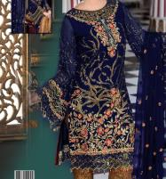 Embroidered Chiffon Suit with Jamawar Trouser UnStitched (Unstitched) (CHI-360) Price in Pakistan