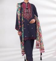Embroidered Lawn Dress 2020 with Lawn Dupatta UnStitched (DRL-559) Price in Pakistan
