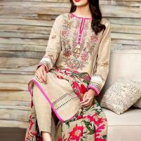 Embroidered Lawn Dress with Chiffon Dupatta - (DRL-426) (UnStitched) Price in Pakistan