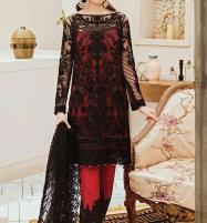 Embroidered Zari Net Unstitched 3 Piece Suit With Net Embroidery Dupatta - Luxury Collection (CHI-369) Price in Pakistan