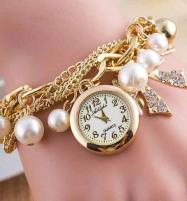 Fashionable Multi Layer Bow Charm Bracelet Watch (BH-55) Price in Pakistan