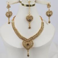 Golden Indian Jewelry Set For Girls (PS-327) Price in Pakistan