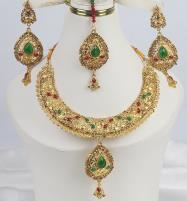 Golden Multicolor Stone Jewellery Designs 2021 For Women  (PS-341) Price in Pakistan