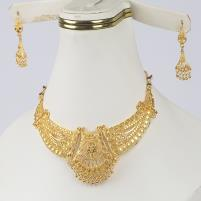 Golden Indian Artificial Jewellery Sets Design 2021 (PS-316) Price in Pakistan