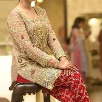 Heavy Embroidered Chiffon Wedding Dress 2020 with Embroidered Trouser - Unstitched  (CHI-318) Price in Pakistan