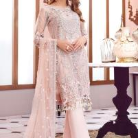 Heavy Handwork Embroidered Chiffon Dress with Net Dupatta Unstitched 3 Piece Suit (CHI-339) Price in Pakistan