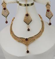 Stylish Golden Artificial Jewellery Sets Multi Stone Work (PS-370)	 Price in Pakistan