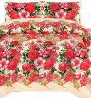 King Size Crystal Cotton Bed Sheet with 2 Pillow Covers (3D-59) Price in Pakistan