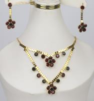 Latest Golden Jewelry Set Design For Women (PS-364) Price in Pakistan