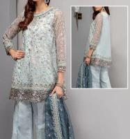 Latest Net Suit With Chiffon Dupatta For Wedding 2020 (CHI-357) (Unstitched) Price in Pakistan