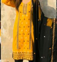 LAWN Heavy Embroidered Dress With Embroidered Chiffon Duppata UnStitched (DRL-656) Price in Pakistan