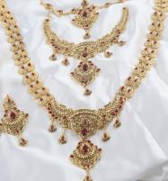 Bridal Jewelry Set Heavy Long Jewelry Set For Dulhan  (PS-331) Price in Pakistan