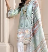 Luxery Lawn Scifflie Cut Work Heavy Embroidery Dress Unstitched 3 Piece Suit (DRL-548) Price in Pakistan