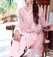 Organza Embroidered Dress Mirror Work with Organza Dupatta  Unsitched (CHI-384) Price in Pakistan