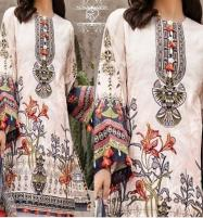 Neck Embroidered  80/80 Lawn With Chiffon Printed Duppata Price in Pakistan