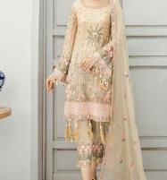 New Chiffon Embroidered Suit With Chiffon Embroidered Dupatta Unstitched (CHI-388) Price in Pakistan