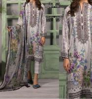 New Lawn  Embroidered  Dress With Chiffon Duppata Price in Pakistan