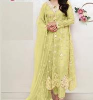New Pakistani Organza Suit (Unstitched) (CHI-366) Price in Pakistan