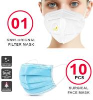 Pack OF (10 Surgical Face Masks + 1 KN-95 Filter Mask) Price in Pakistan