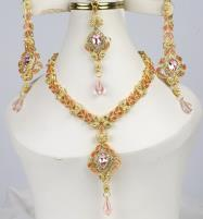 Luxury Bridal jewelry Sets Earing With Matha Patti  (PS-379) Price in Pakistan