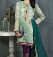 Embroidered Masoori Suit with Chiffon Dupatta Unstitched (CHI-169) Price in Pakistan