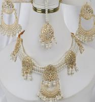 Golden And Pearl Jewelry Sets With Matha Patti (PS-263) Price in Pakistan