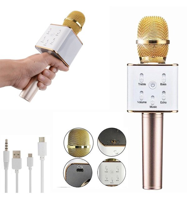 Portable Handheld Wireless Microphone With Speaker And Bluetooth Condenser Microphone (MIC-01) Price in Pakistan
