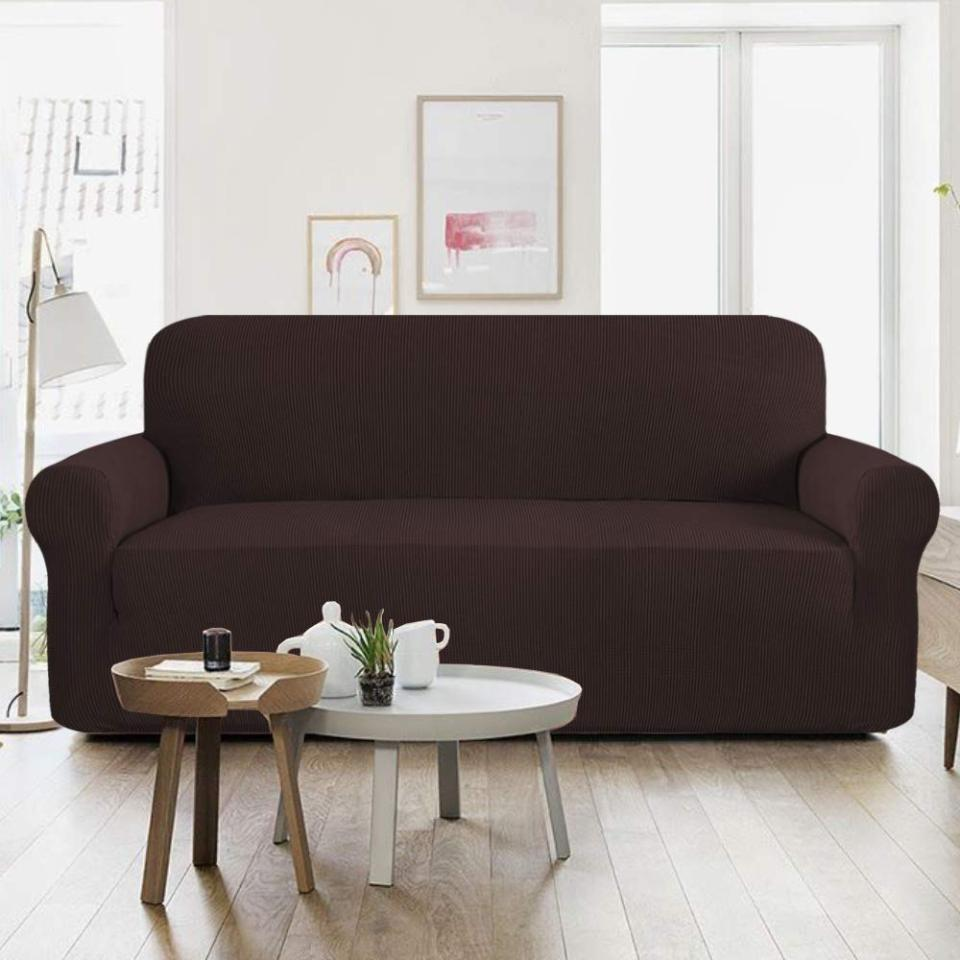 7 Seater Jersey Sofa Cover - Dark Brown Price in Pakistan