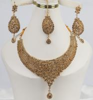 Gorgeous Bridal Champagne Color Jewelry Designs For Girls  (PS-342) Price in Pakistan