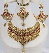 Bridal Beautiful Jewelry Designs Earing With Matha Patti For Women  (PS-340) Price in Pakistan