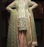Wedding Heavy Net Suit With Net Dupatta Unstitched  (CHI-378) Price in Pakistan