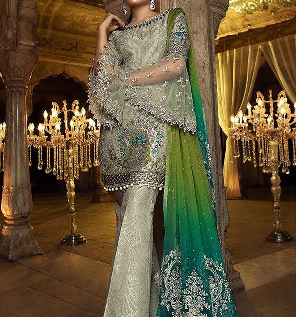 Luxury Net Suit With Heavy Net Embroided Dupatta (Unstitched) (CHi-160)
