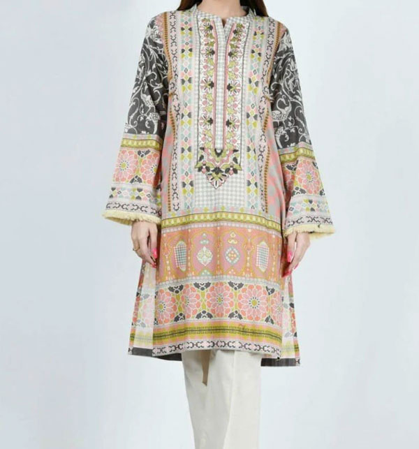 3 Piece Unstitched Embroidered Lawn Suit WIth Lawn Dupptta UnStitched (DRL-639)