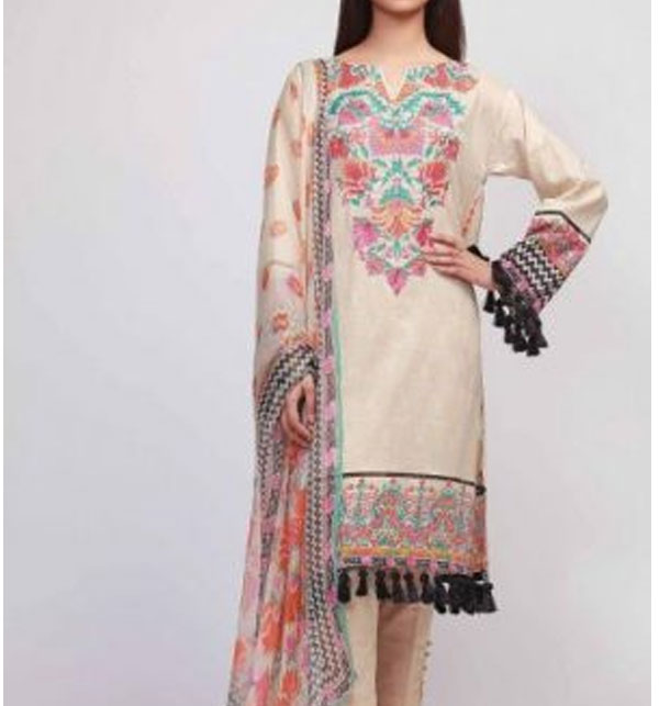 AIRJET LAWN Dress With Chiffon Duppata (Unstitched) (DRL-542)