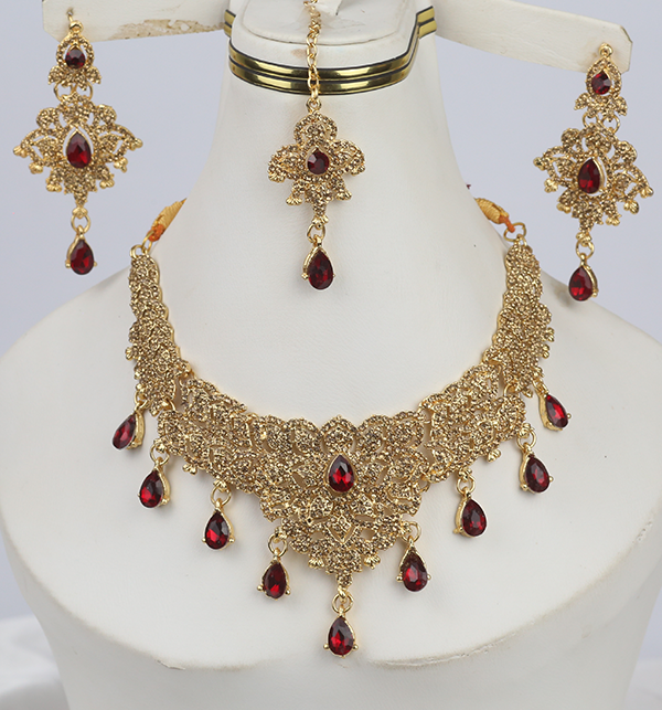 Beautiful Women Necklace Set Earring & Matha Patti (PS-276)
