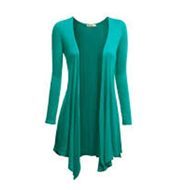 Jersey Cotton Shrug For Women Sea Green