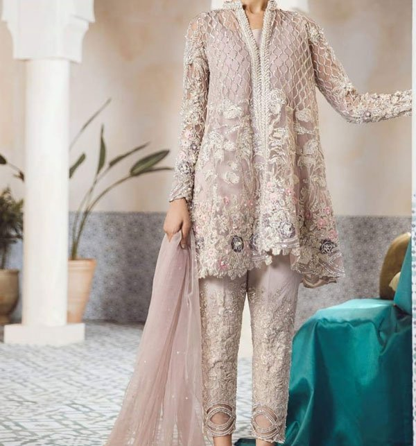 Heavy Embroidery Designer NET Suit (CHI-243) (Unstitched)