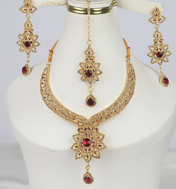 Golden Artificial Jewellery Sets  (PS-368)