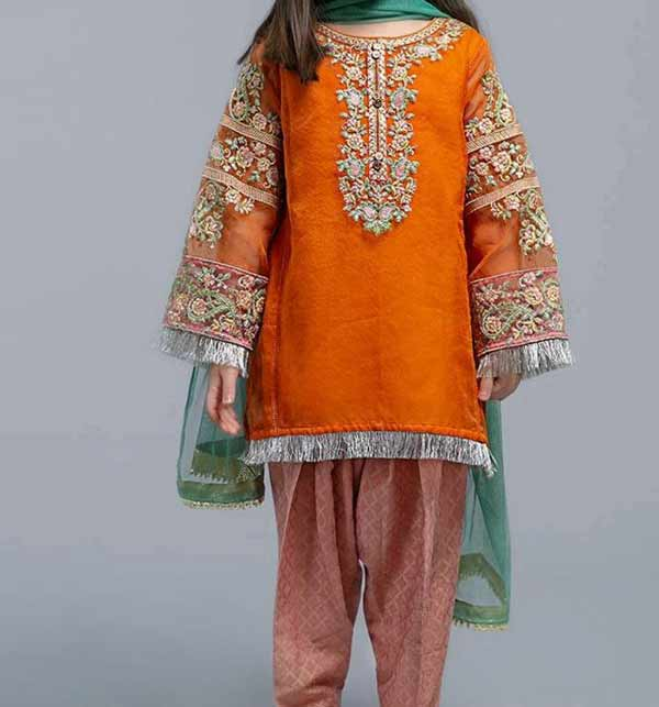 LINEN Embroidery Kids Suit Unstitched (KLN-01)