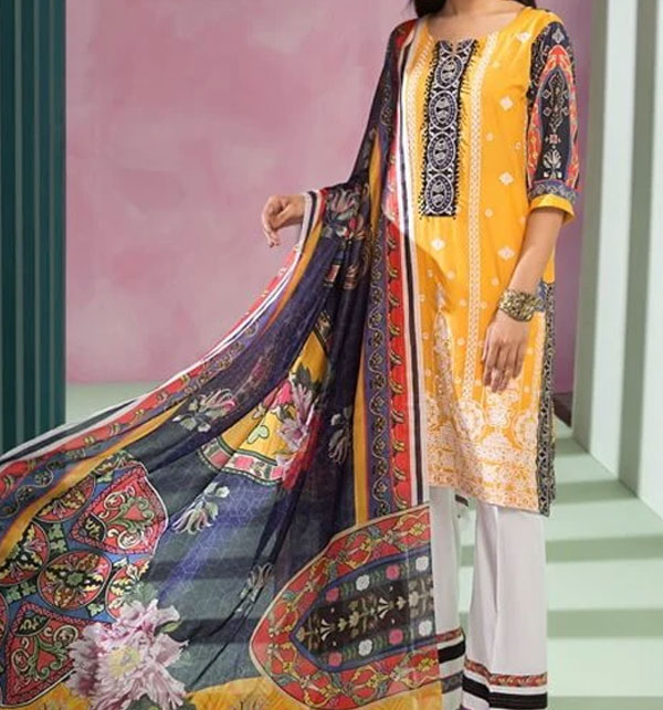 Luxury Lawn Collection 2020 Unstitched 3PC Suit (DRL-557)