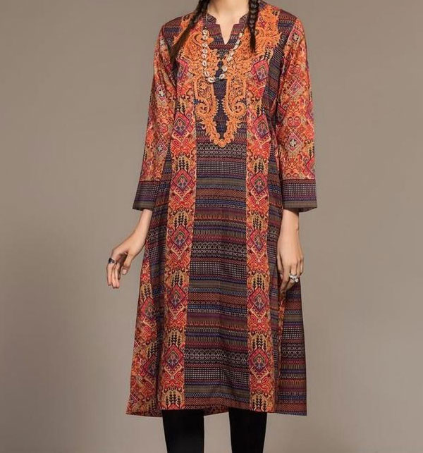 Embroidered Lawn Dress with Chiffon Dupatta  UnStitched (DRL-623)
