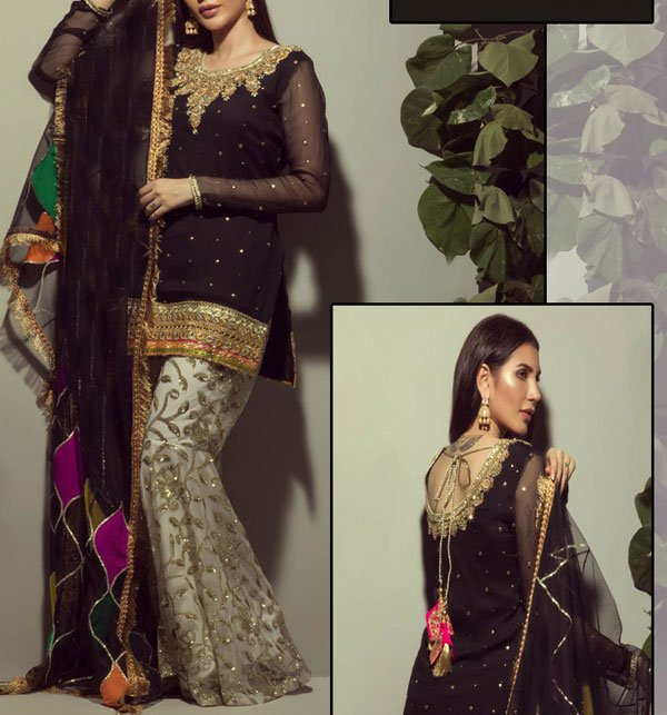Embroidered Chiffon Suit With Embroidery Trouser UnStitched (CHI-198)
